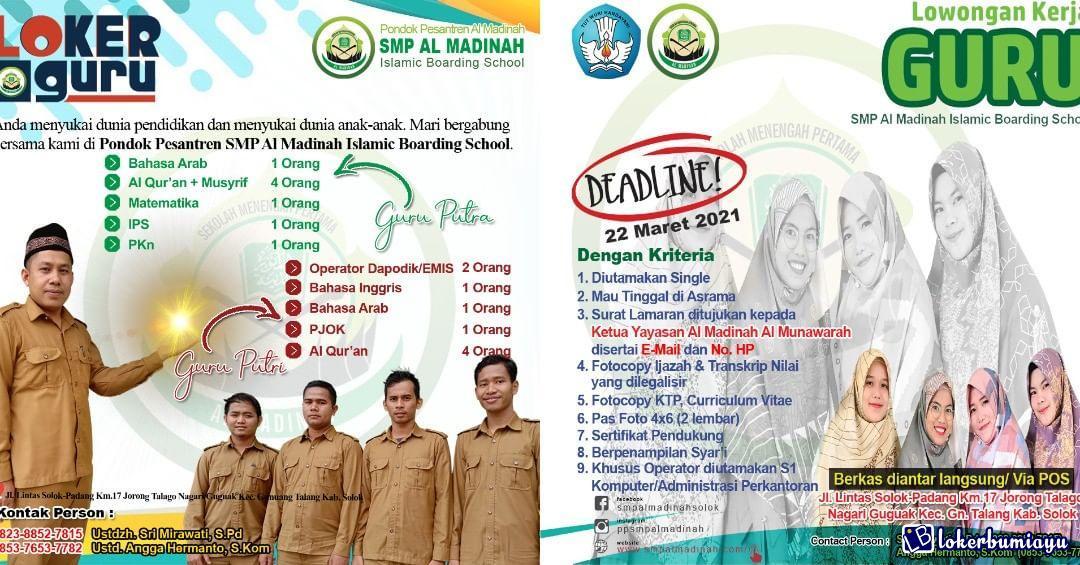 PP SMP Al Madina Boarding School Solok