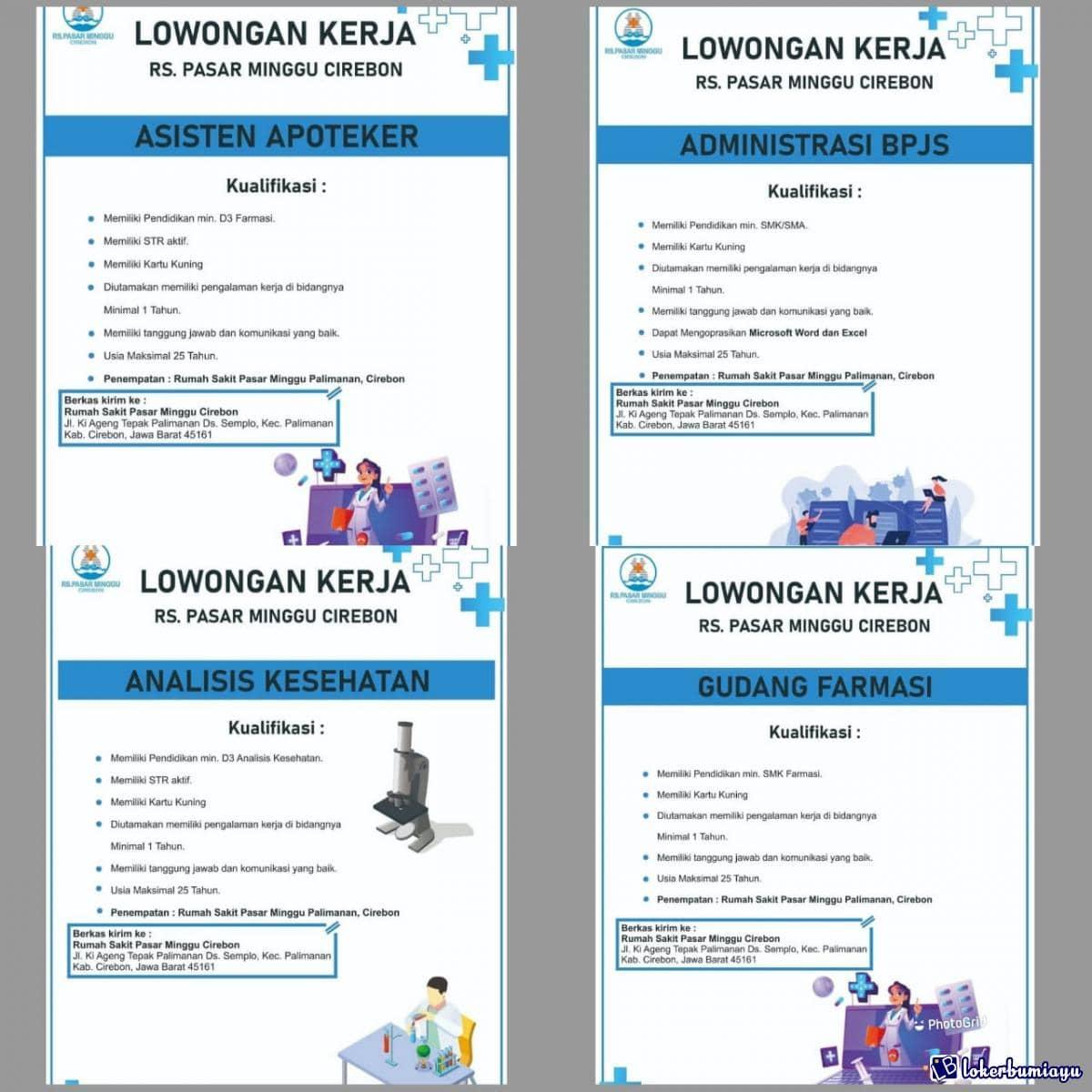 Lowongan Kerja Rumah Sakit Pasar Minggu Cirebon April 2021