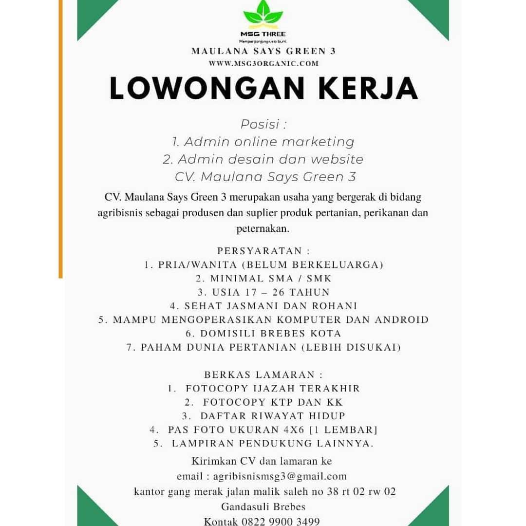 CV. Maulana Says Green 3