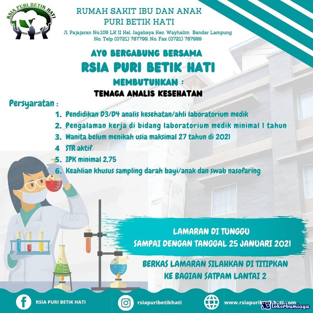 Rumah Sakit Ibu dan Anak Puri Betik Hati Bandar Lampung