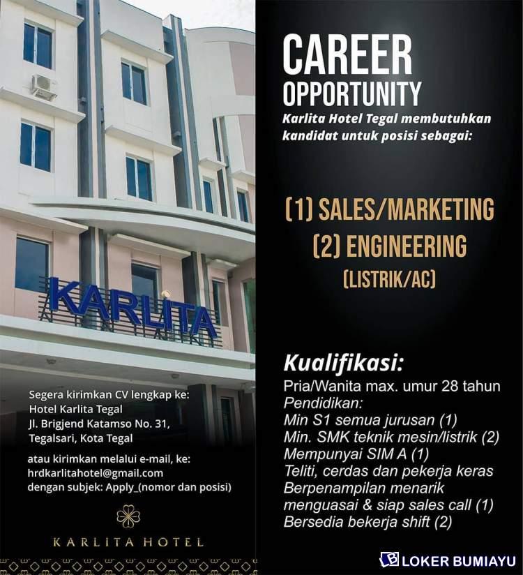 Lowongan Kerja Hotel Karlita Februari 2021