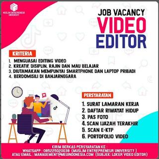 Lowongan Kerja Muslim Entrepreneur University September 2020
