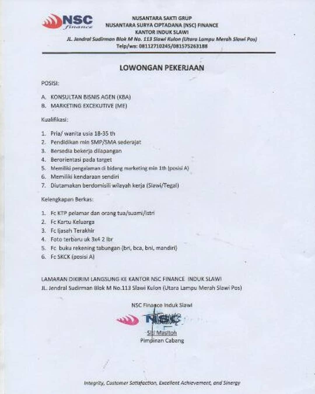 NSC Finance Induk Slawi