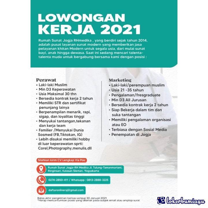 Lowongan Kerja Rumah Sunat Jogja Rh Medika Januari 2021