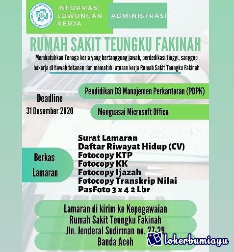Lowongan Kerja D3 Di Banda Aceh Nanggroe Aceh Darussalam Agustus 2021