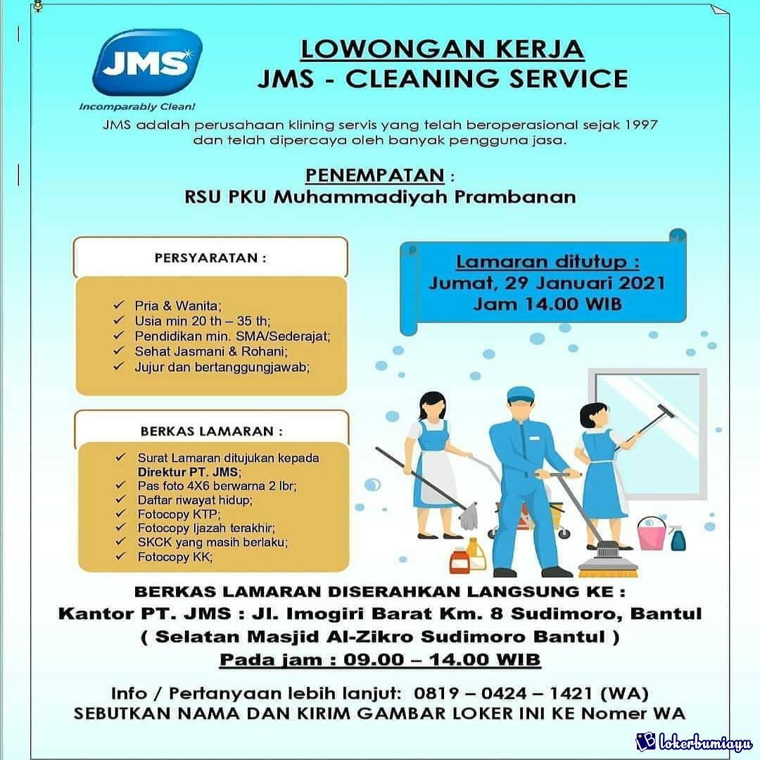 Lowongan Kerja Pt Jms Yogyakarta Januari 2021