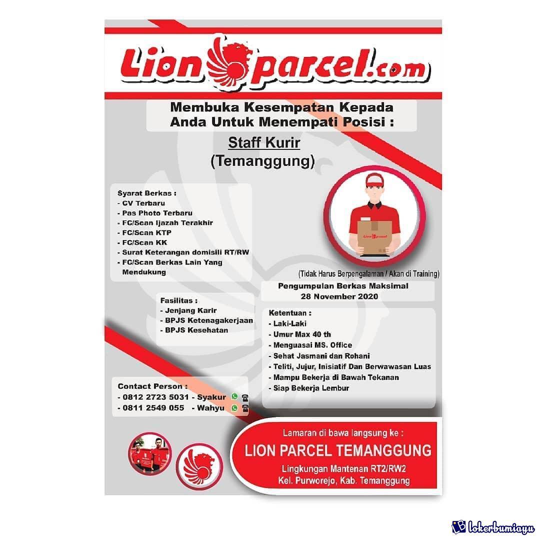 Lowongan Kerja Lion Parcel Temanggung November 2020