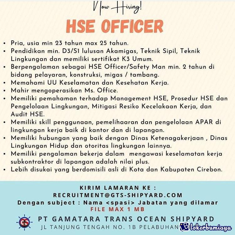 PT. Gamatara Trans Ocean Shipyard Cirebon