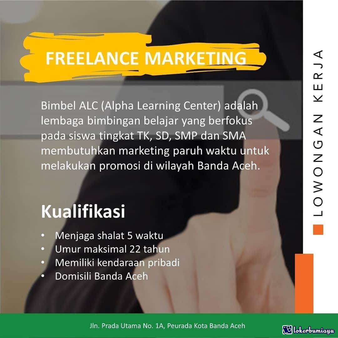 Lowongan Kerja Sebagai Freelance Marketing Juni 2021