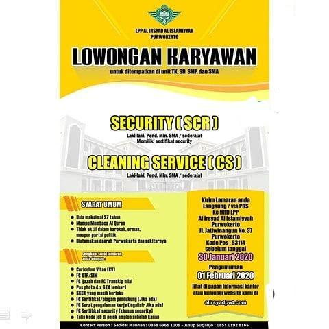 Lowongan Kerja Cleaning Service Terbaru 2020