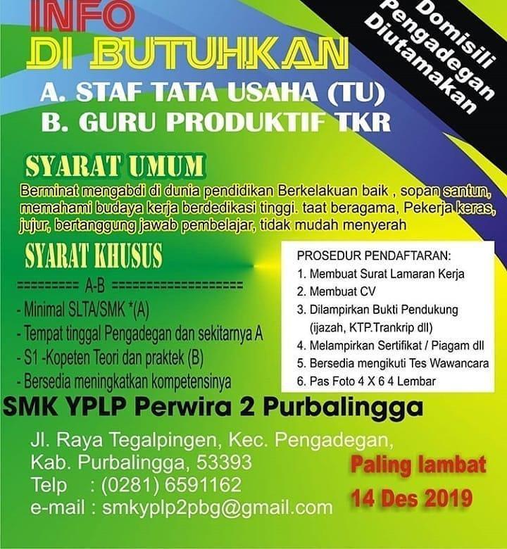 SMK YPLP Perwira 2 Purbalingga