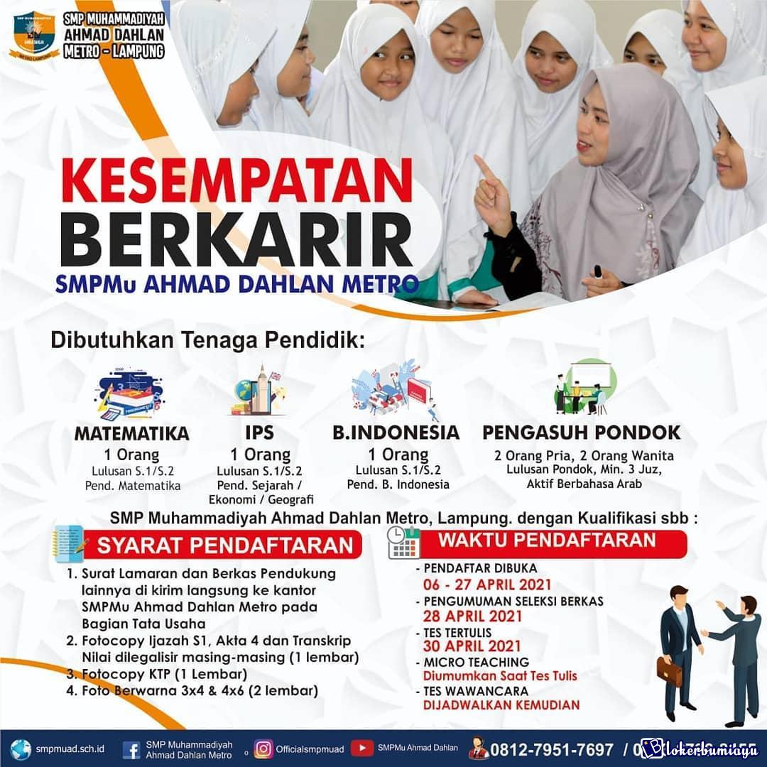 SMP Muhammadiyah Ahmad Dahlan Metro