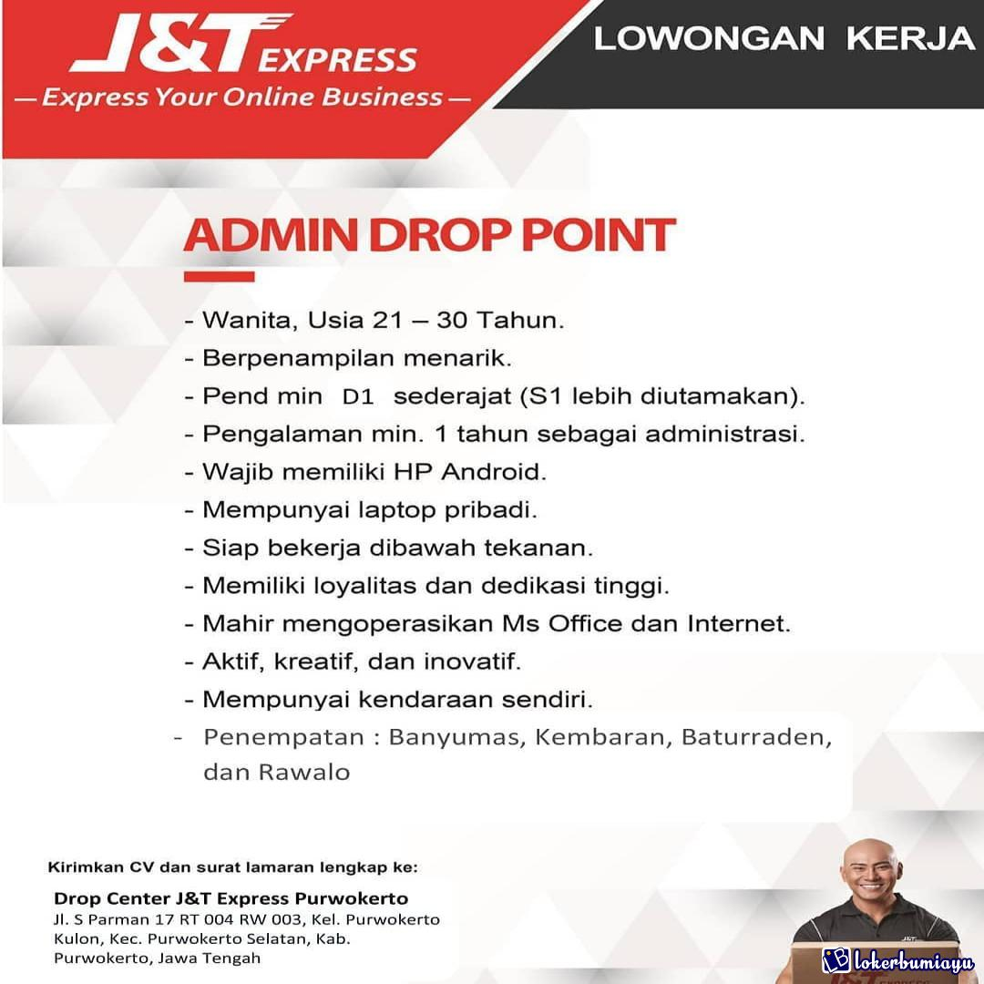 Lowongan Kerja J And T Express Purwokerto Oktober 2020