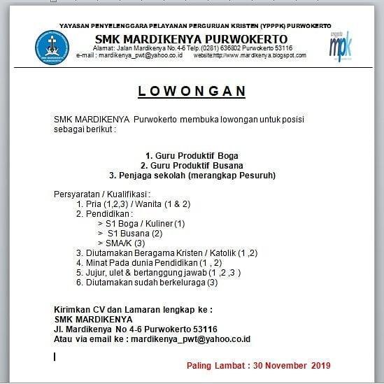 SMK MARDIKENYA Purwokerto