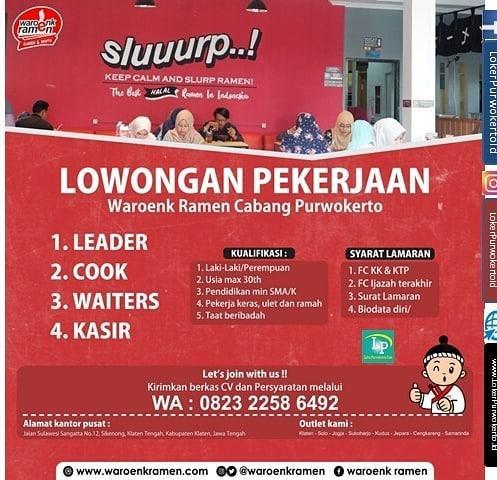 Waroenk Ramen Cabang Purwokerto