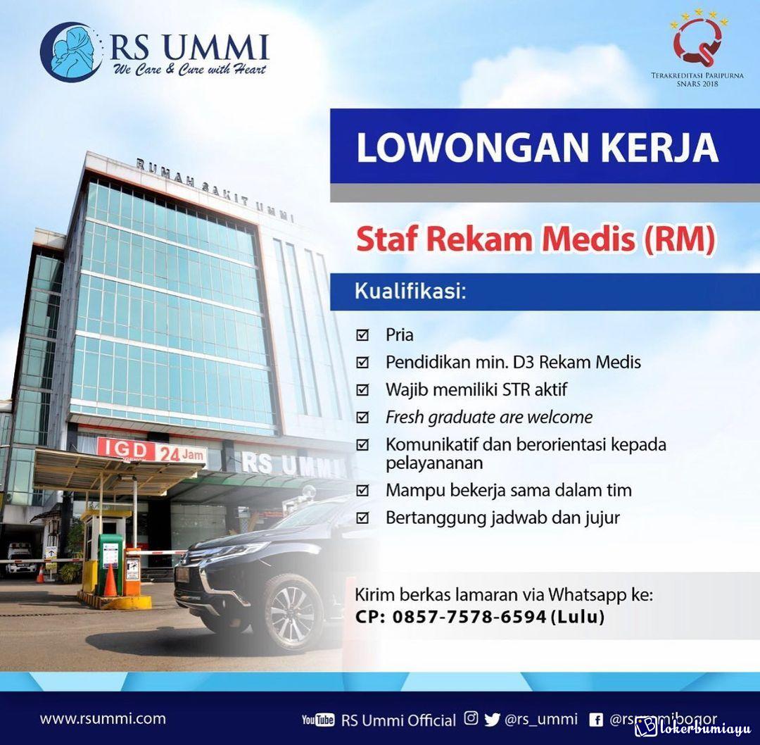 Lowongan Kerja Rs Ummi Bogor Jawa Barat Januari 2021