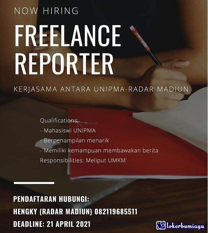Lowongan Kerja Sebagai Jurnalis Juni 2021