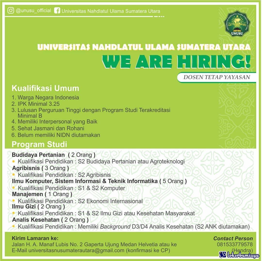 Universitas Nahdatul Ulama sumatera Utara