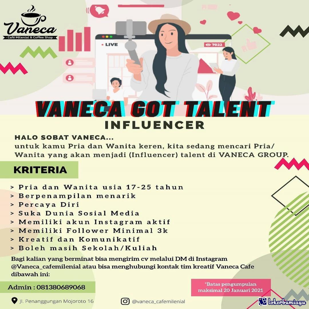 Lowongan Kerja Vaneca Cafe Milenial Kediri Januari 2021