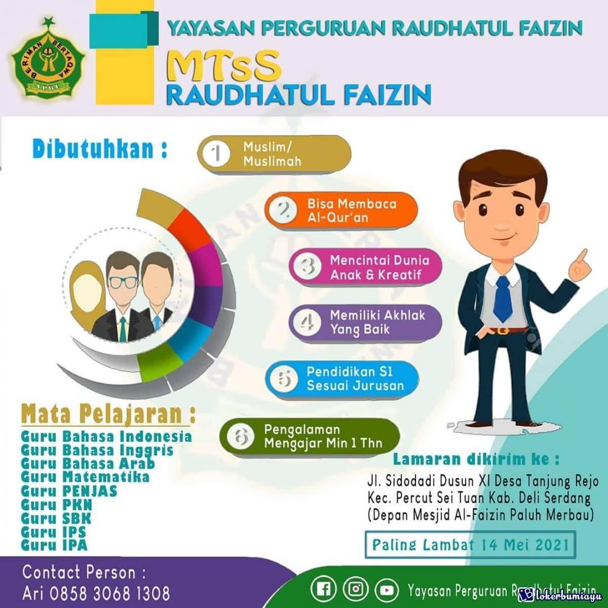 MTS Raudhatul Faizin Deli Serdang