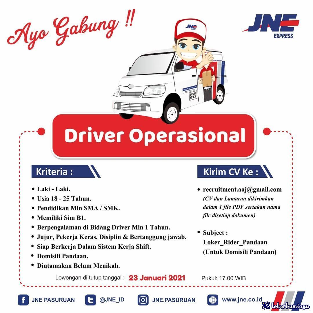 Lowongan Kerja Jne Pasuruan Jawa Timur Januari 2021