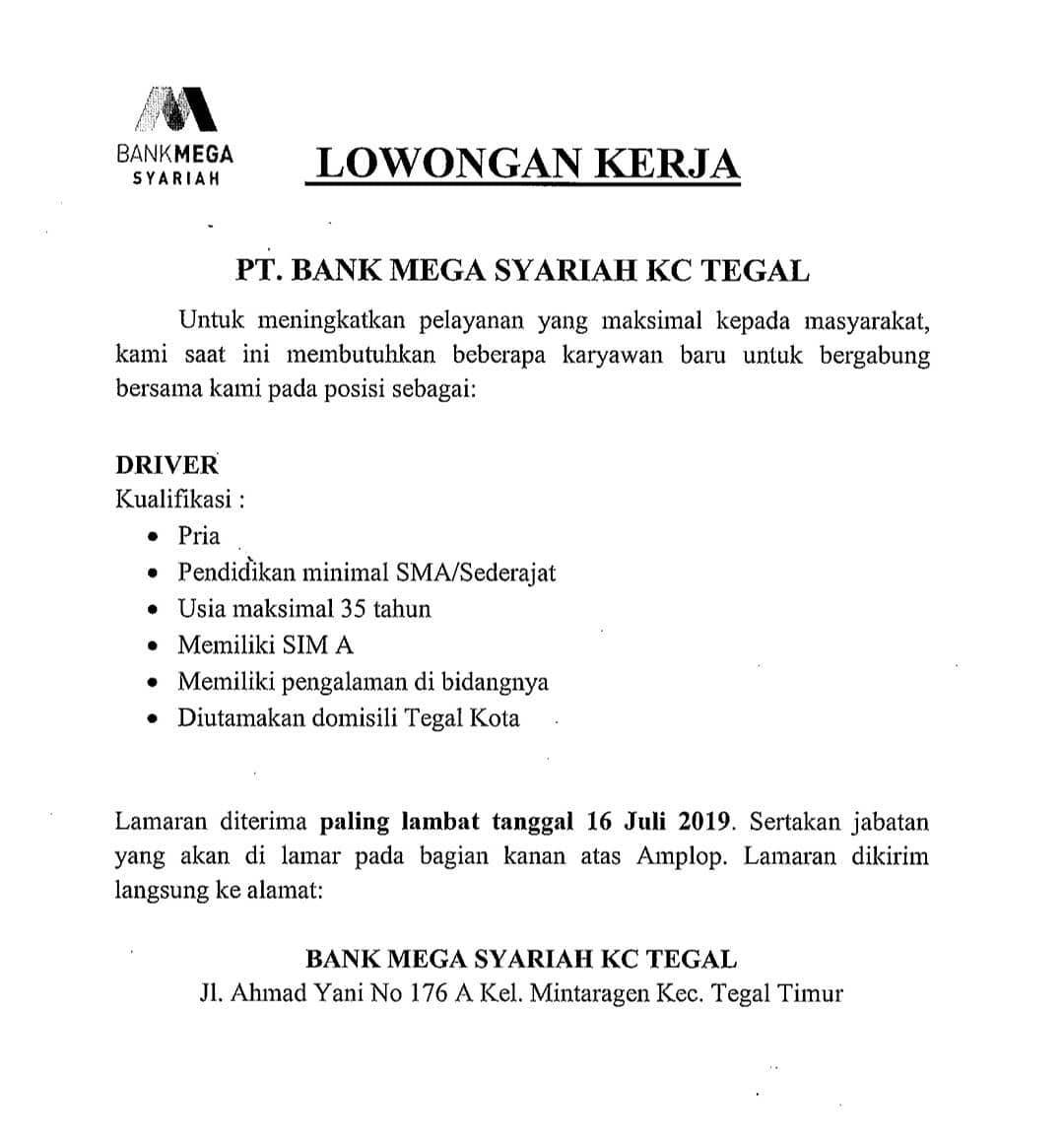 PT. BANK MEGA SYARIAH KC TEGAL