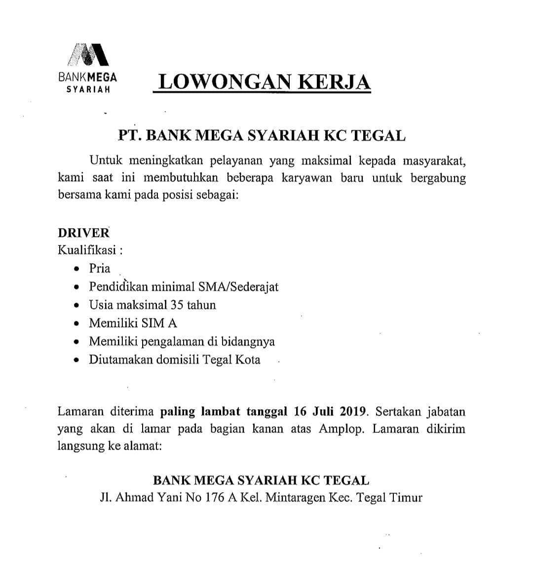 PT. BANK MEGA SYARIAH KC TEGAL