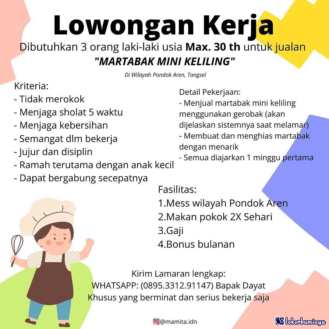 Lowongan Kerja Mamita Martabak Mini Tangerang Januari 2021