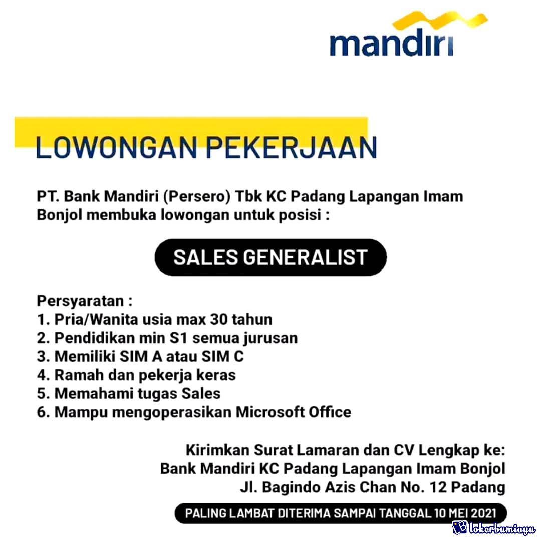 PT Bank mandiri KC Padang