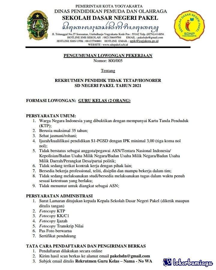 Sd Negeri 1 Pakel Yogyakarta