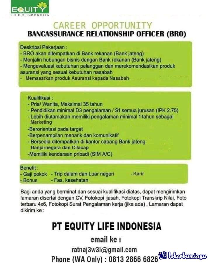 PT EQUITY LIFE INDONESIA