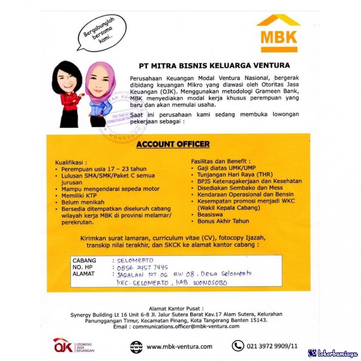 Lowongan Kerja Di Wonosobo Jawa Tengah Juli 2021