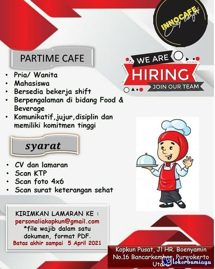 Lowongan Kerja Sebagai Part Time Cafe Juni 2021