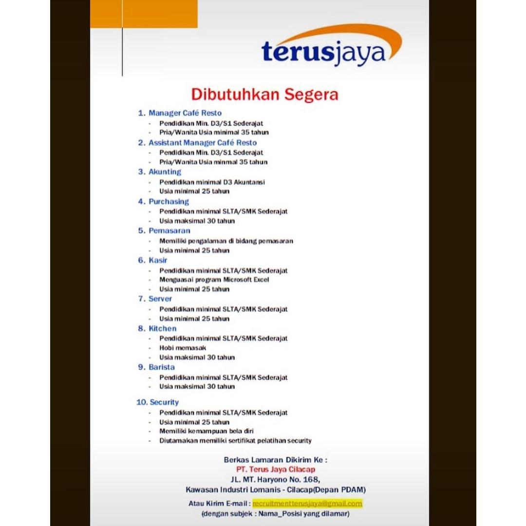 PT. Terus Jaya Cilacap
