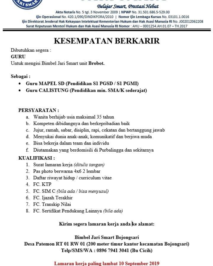 Bimbel Jari Smart Bojongsari