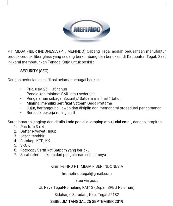 PT. MEGA FIBER INDONESIA