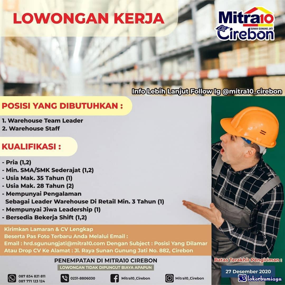 Lowongan Kerja Mitra10 Cirebon Desember 2020