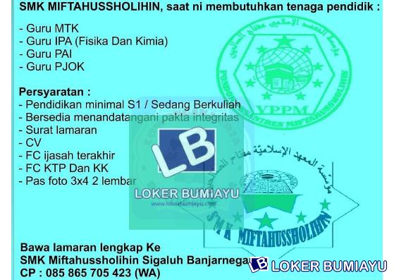 SMK MIFTAHUSSHOLIHIN SIGALUH BANJARNEGARA