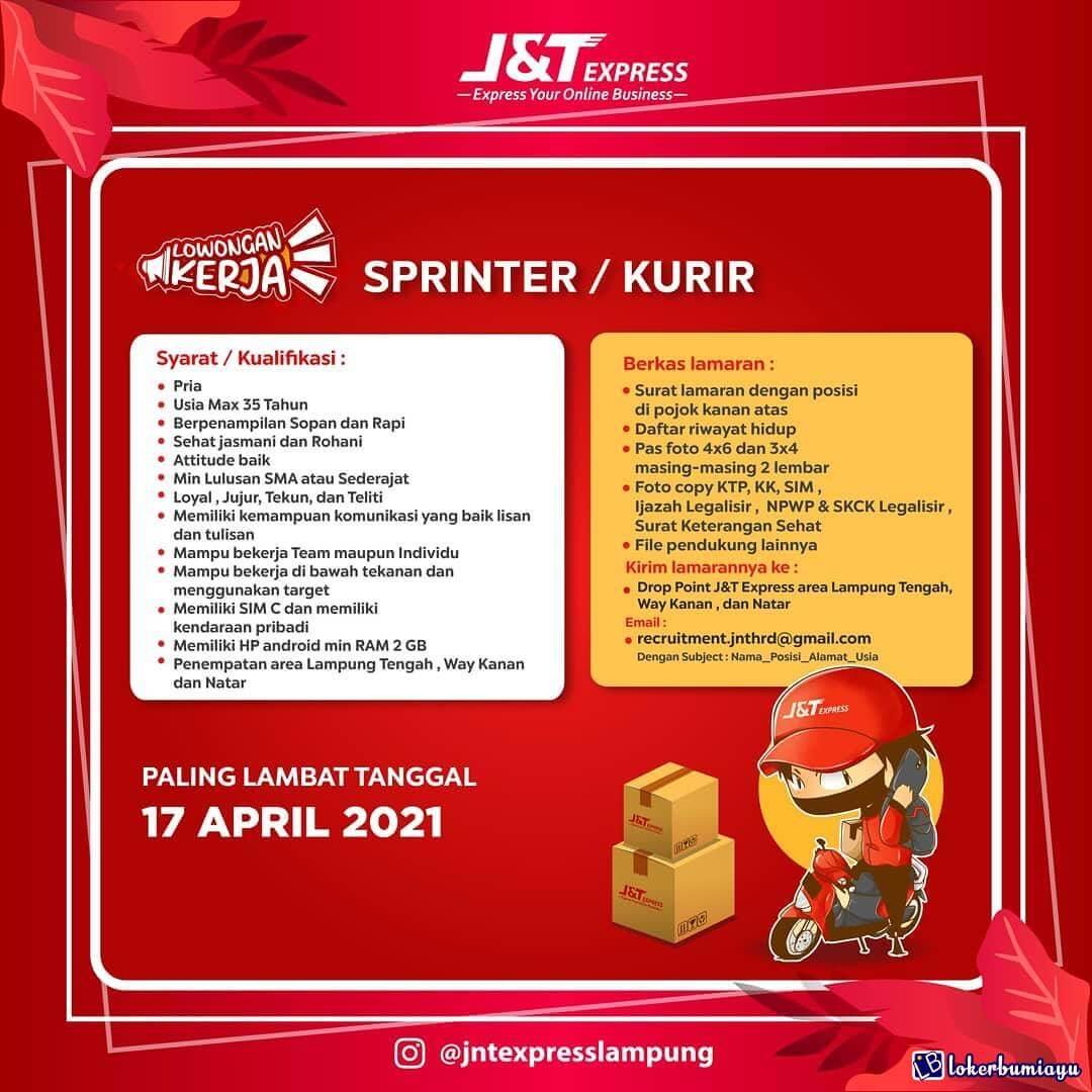 Lowongan Kerja Jnt Express Lampung April 2021