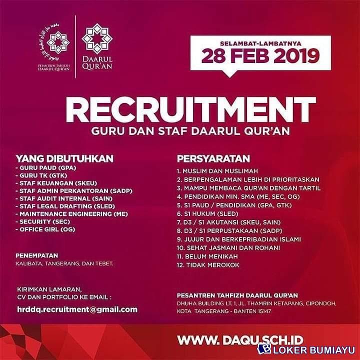 Lowongan Kerja Staff Admin Perkantoran Februari 2021