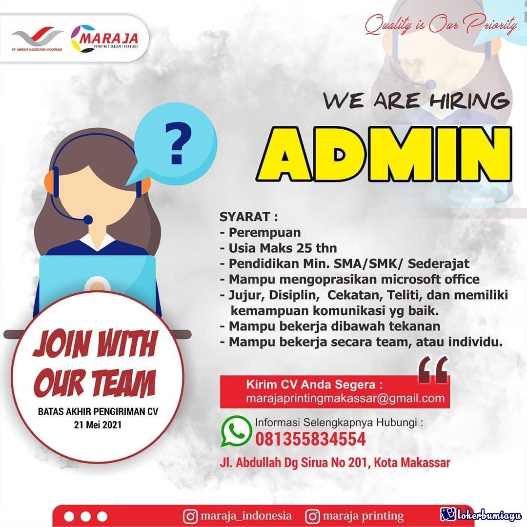 Get Lowongan Kerja 2021 Admin PNG