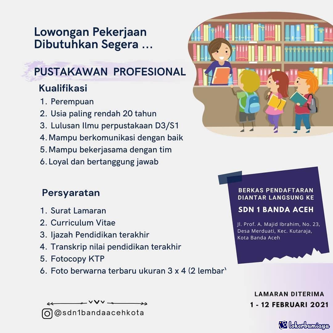 Lowongan Kerja Di Banda Aceh Nanggroe Aceh Darussalam Maret 2021