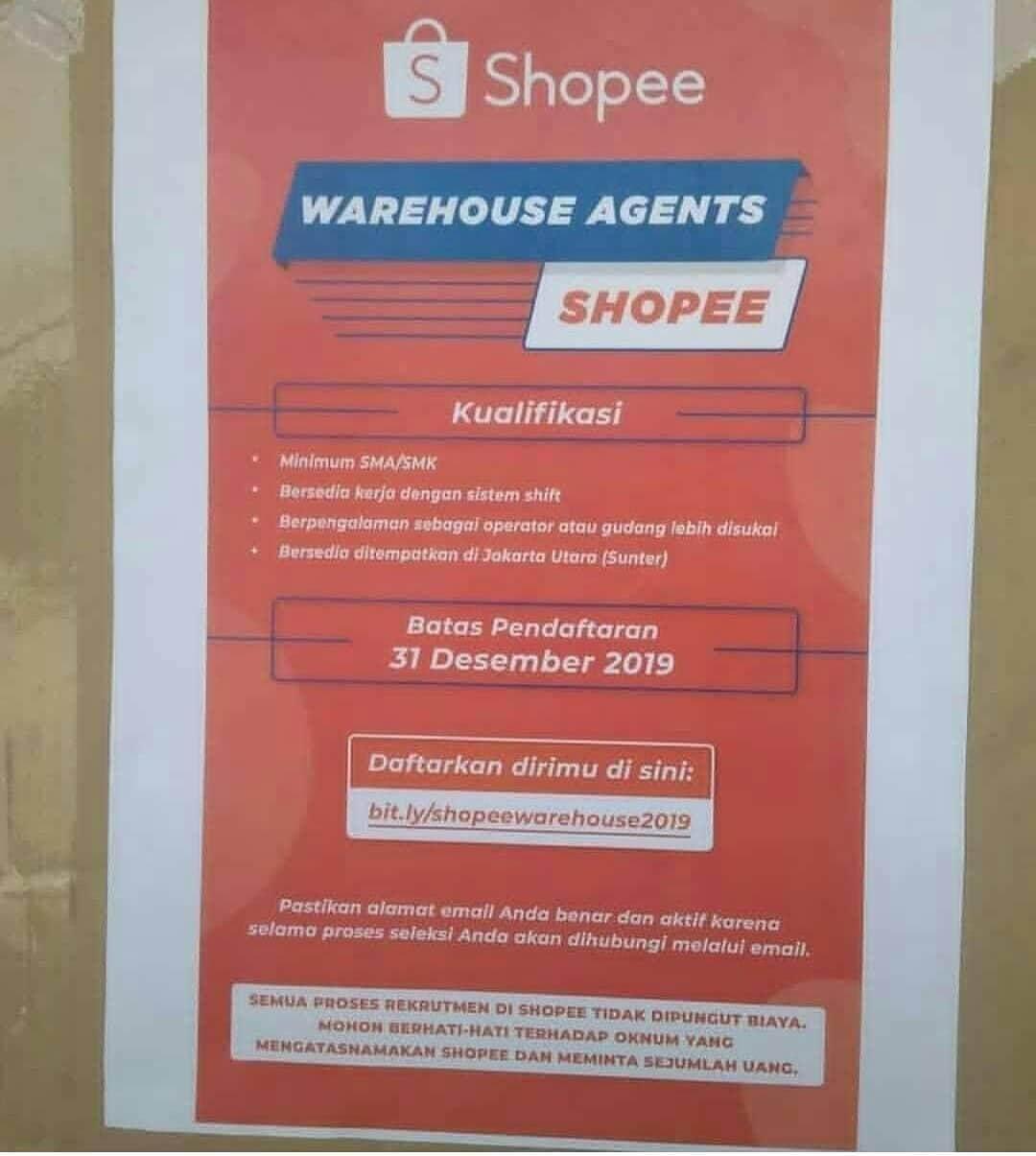 Lowongan Kerja Shopee Indonesia Oktober 2019