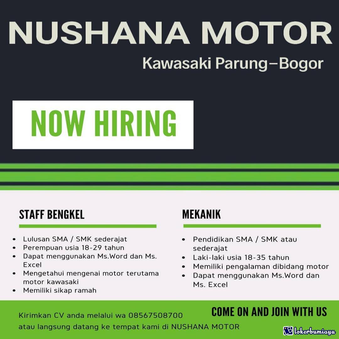 Lowongan Kerja Nushana Motor Parung Bogor Februari 2021
