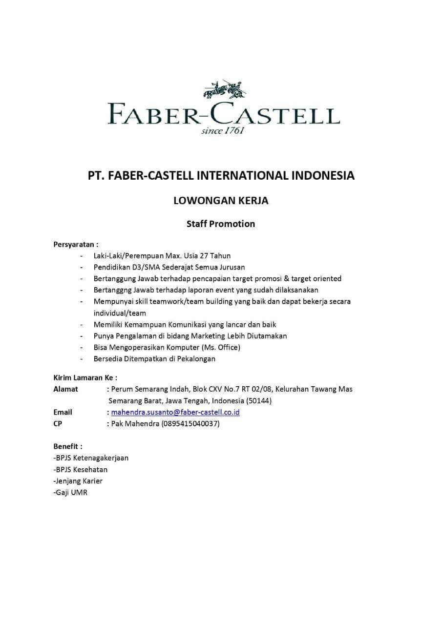 PT. FABER-CASTELL INTERNATIONAL INDONESIA