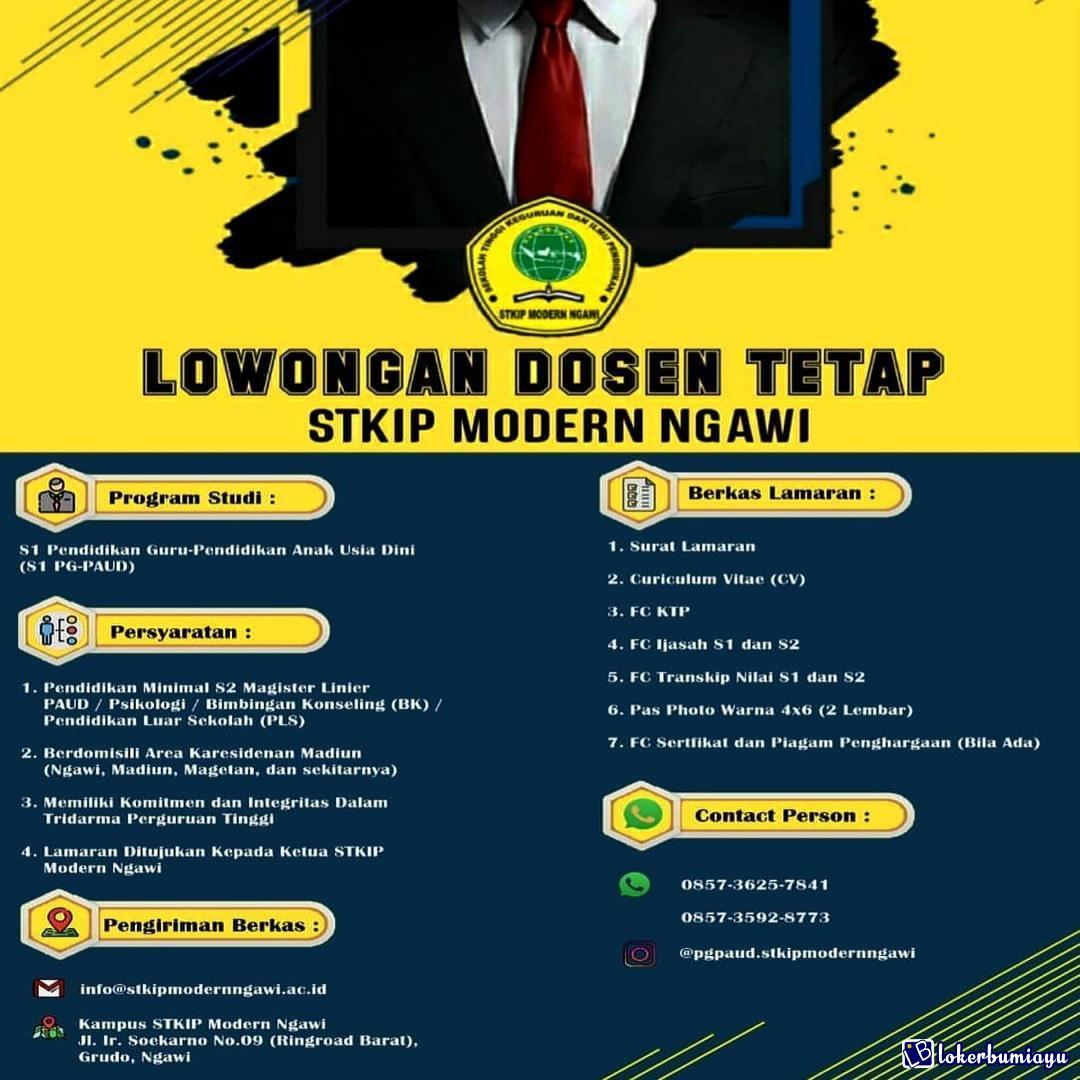 Lowongan Kerja Stkip Modern Ngawi Desember 2020