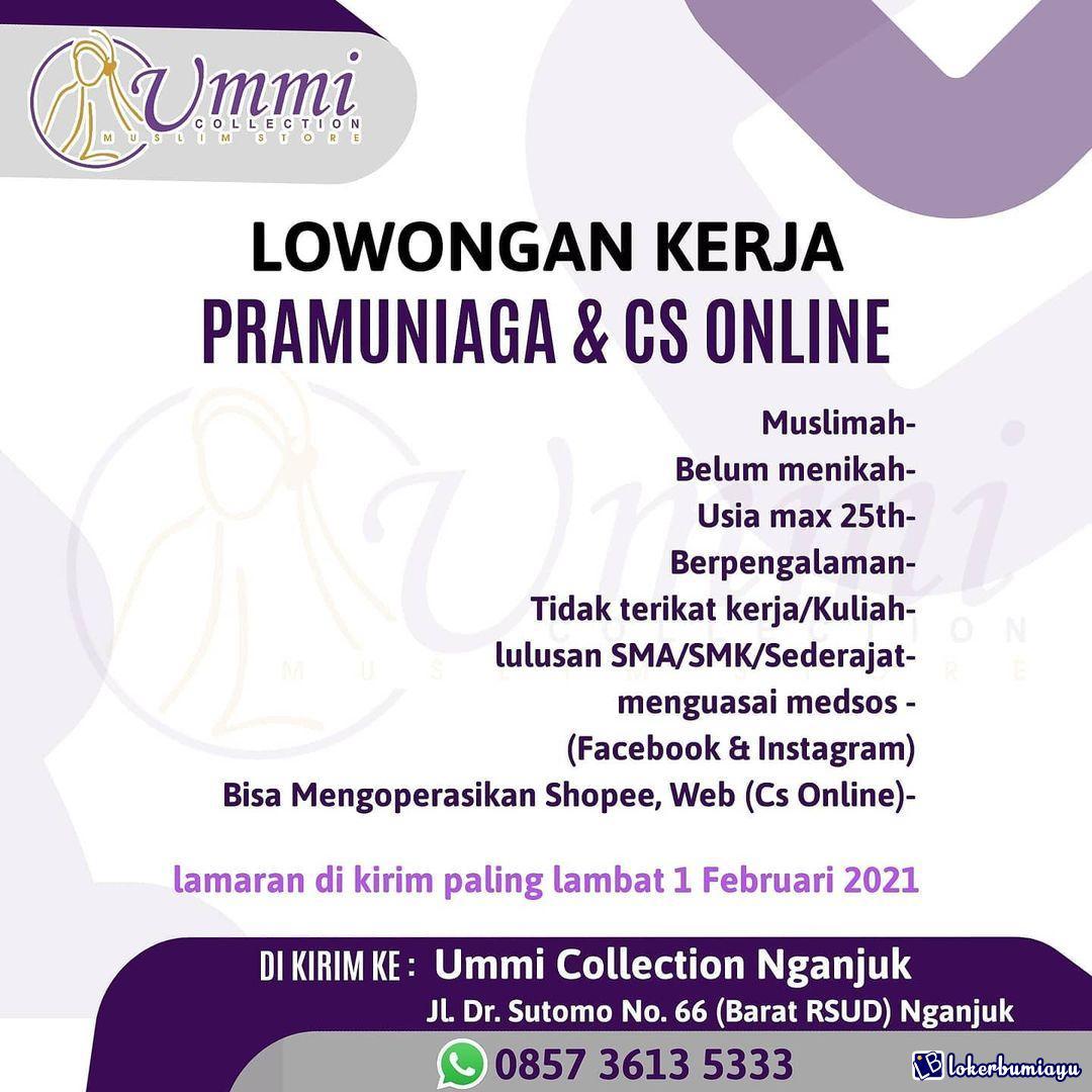Lowongan Kerja Ummi Collection Nganjuk Januari 2021