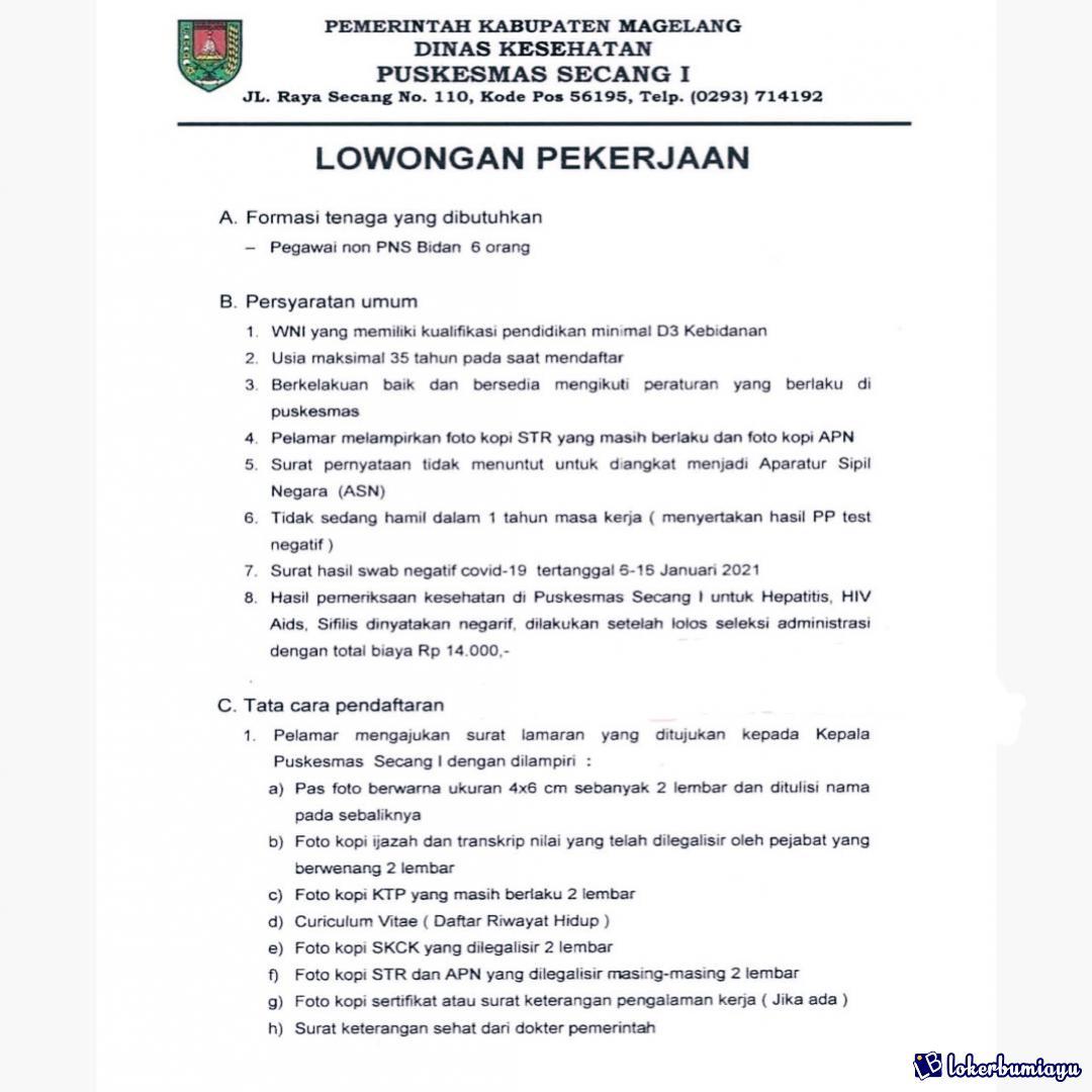 Lowongan Kerja Di Magelang Jawa Tengah Februari 2021