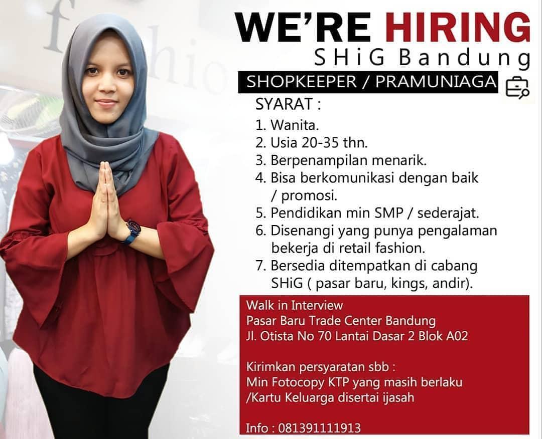 Lowongan Kerja Shop Keeper Februari 2021