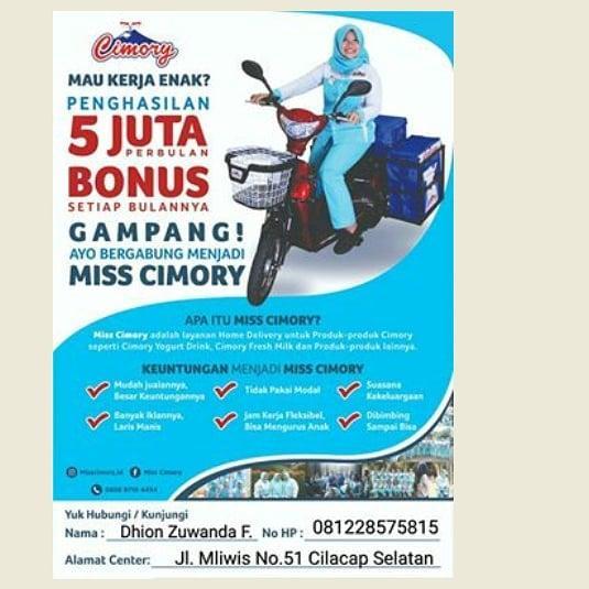 Lowongan Kerja Miss Cimory Juni 2021